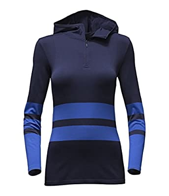 The North Face Women's LS Secondskin Hooded Top Cosmic Blue