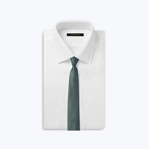 IUYWL Corbata de Negocios de Seda de Morera Color sólido versión ...