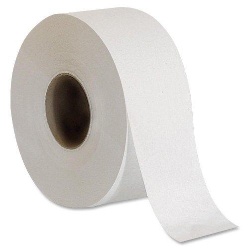 Genuine Joe Jumbo Dispenser Roll Bath Tissue by Genuine Joe