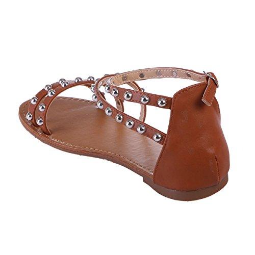 à Sandales Camel en Plates La Simili Cuir Modeuse multibrides YPfPz