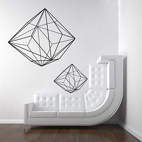 wsqyf Patrón Geométrico Abstracto Vinilo Etiqueta De La Pared Apliques Mural Salón Dormitorio Decoración del Arte...