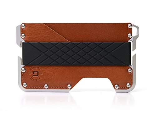 (Dango D01 Dapper EDC Wallet - Made in USA - Genuine Leather, CNC Alum, RFID Blocking)