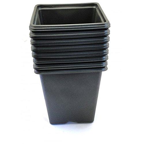 Vilmorin - Pack de 15 Godets carrés noir en plastique 9cm