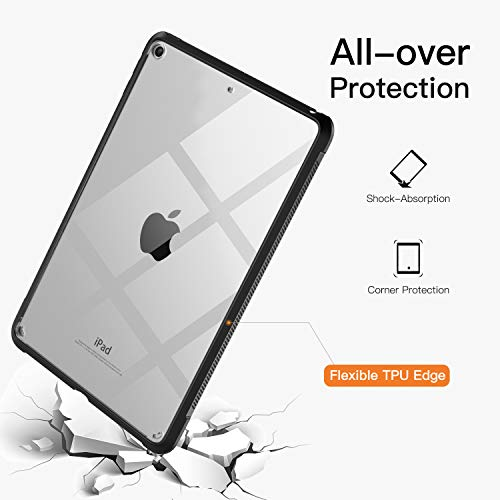 TiMOVO Cover Compatible for New iPad Mini 5th Generation 2019 Case, Premium Ultra Slim Lightweight Shock Absorbant Flexible TPU Air-Pillow Edge Protective Clear Case Fit iPad Mini 5 2019 - Black