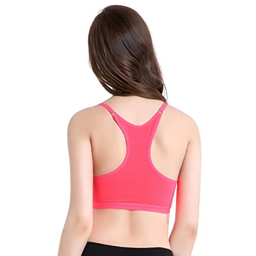 Jfin Las De Las Mujeres Forma De U Sostén Deportivo Spandex Entrenamiento De Fitness Rosa Indy Pro,NudeColor-L Yellow