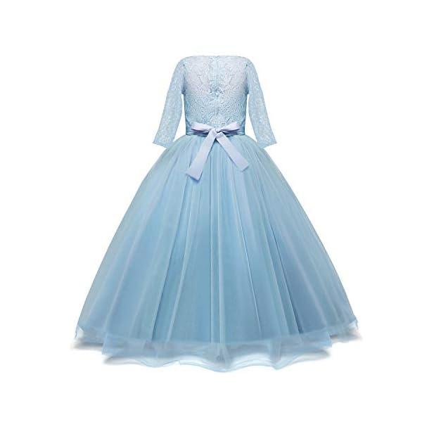 NNJXD Filles Pageant Broderie Robe de Bal Princesse Robe de mariée