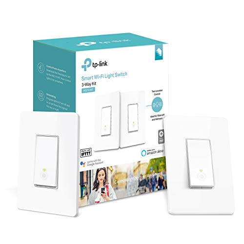 (Kasa Smart Wi-Fi Light Switch, 3-Way Kit by TP-Link - Control Lighting from Anywhere, Easy In-Wall Installation (3-Way Only), No Hub Required, Works with Alexa and Google Assistant (HS210 KIT) (Renewe)