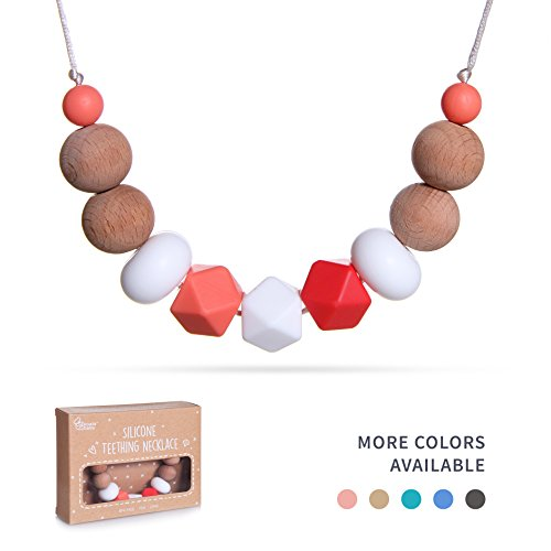 Baby Teething Necklace for Mom by Koala&Co. with BPA Free...
