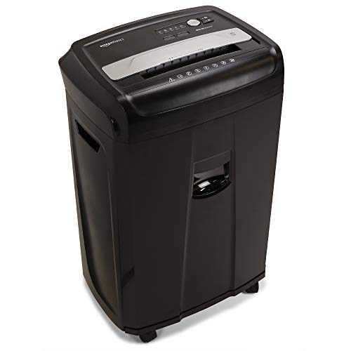 AmazonBasics 17-Sheet High-Security Micro-Cut Paper, CD and Credit Card Home Office Shredder