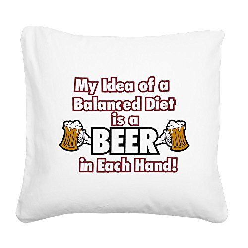 square-canvas-throw-pillow-natural-my-idea-balanced-diet-beer-each-hand