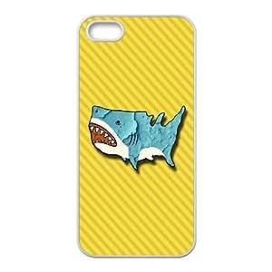Custom Cartoon Shark Case Cover , Creative Designed For iPhone 5,5S