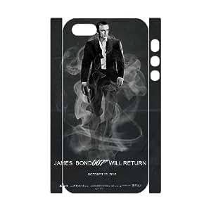 LSQDIY(R) James Bond 007 iPhone 5,5G,5S Custom 3D Case, High-quality iPhone 5,5G,5S 3D Case James Bond 007