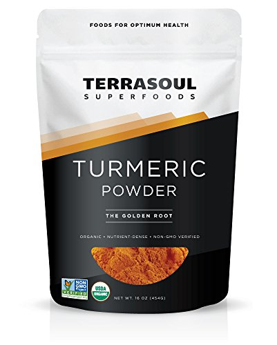 Terrasoul Superfoods Organic Turmeric Powder, 16 Oz - Curcumin | Lab Tested for Purity | Premium Quality
