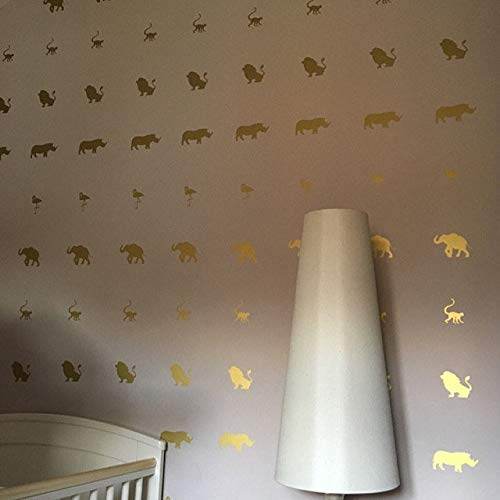 Removable Wallpaper Jungle Stickers Lion Party Theme 30 Lion Stickers Lion Nursery Wall Decal Invitation Seals Africa Animal Decal
