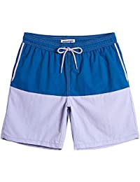 178db9d3fd Mens Boys Short Swim Trunks 7 Inches Mens Bathing Suits Slim Fit Swim Shorts  Swimsuits for