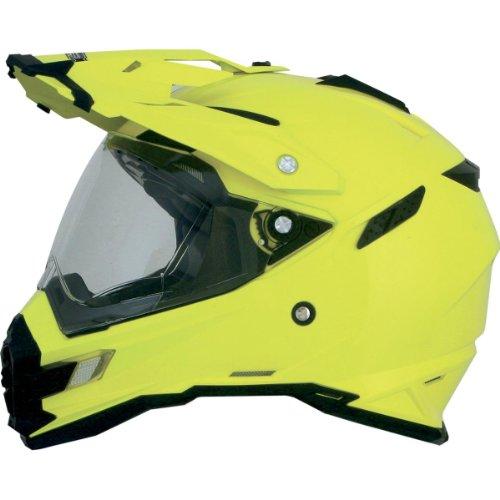 AFX FX-41DS Solid Helmet , Gender: Mens/Unisex, Helmet Type: Offroad Helmets, Helmet Category: Offroad, Distinct Name: Hi-Vis Yellow, Primary Color: Yellow, Size: Lg 0110-3775