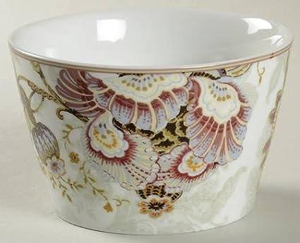Amazon.com: 222 Fifth Gabrielle Cream Round Dessert/appetizer Bowls ...