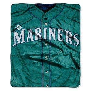 MLB Seattle Mariners Jersey Plush Raschel Throw, 50