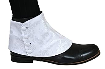 Edwardian Men's Shoes- New shoes, Old Style Jacquard Button Spats $31.95 AT vintagedancer.com
