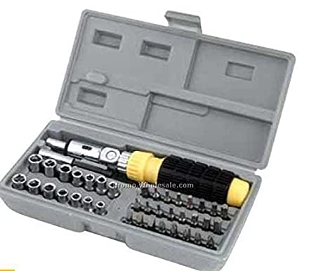 Mix Cart Multipurpose Screwdriver Set - 41 in 1 Pcs for Car and Bike Repairing Tool Kit