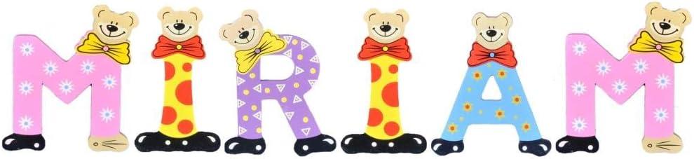 Sortiert Playshoes Kinder Holz-Buchstaben Namen-Set Miriam