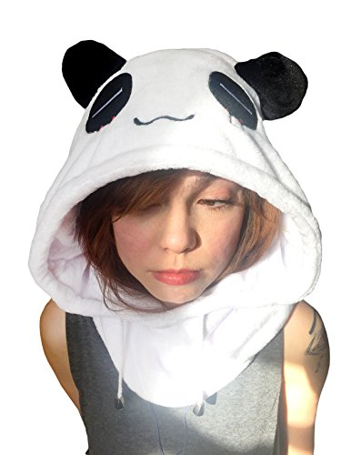 (OneSquare Animal Hood Onesie/Hat - Costume, Cosplay, Pajamas, Adults Kids, Indoors Outdoors, Festival and Rave - Sad)