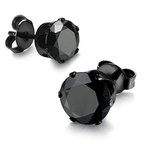 Jstyle Stainless Zirconia Earrings Pierced