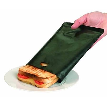 Caraselle - Bolsa para tostar alimentos en tostadora (2 unidades), color verde Se puede reutilizar hasta 300 veces.