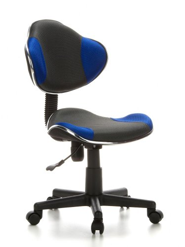 HJH OFFICE 633000 Kinder Bürostuhl / Drehstuhl Kiddy GTI-2, grau / blau