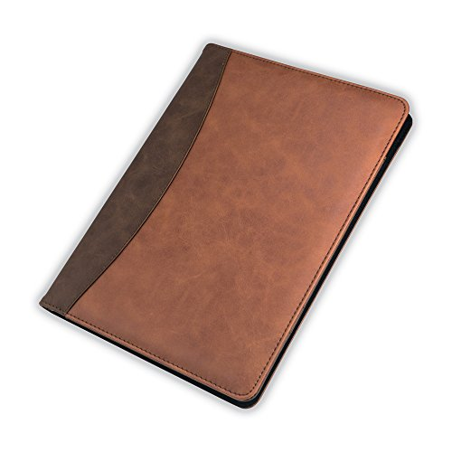 Samsill 71756 Two-Tone Padfolio BWN Tan, Letter Size, Brown; Black