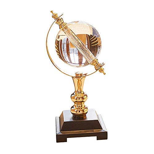 - MLQ Globe Decoration, Crystal Globe Decoration European Ornaments Perfect Study Room Living Room Wine Cabinet Decoration Home Office Table Business Gift