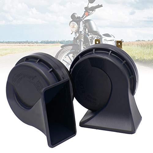 zzpopGG Motorcycle Horn,Car,Loudspeaker,1 Pair Waterproof 105-118dB 12V Universal Car Motorcycle Loud Horn Air Siren