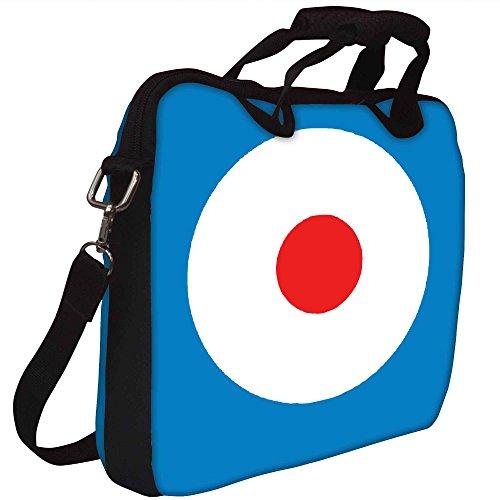 Snoogg Schießen-Ziel Gedruckt Notebook-Tasche mit Schultergurt 13 bis 13,6 Zoll