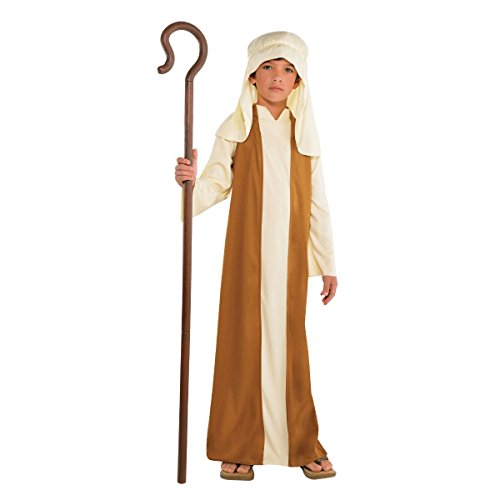 Amscan Beige Saint Joseph Costume for Boys, Bible Costumes for Kids, Small, with Included Accessories