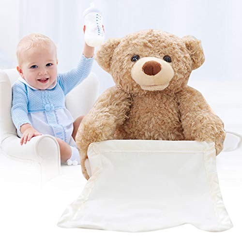 Luckguy Peek a Boo Talking Teddy Bear Animated Talking Bear Birthday Gift Cute Plush Toy