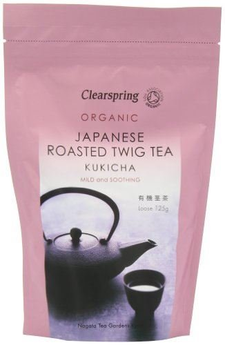 125g Loose Tea - Clearspring - Japanese Roasted Kukicha Twig Loose Tea - 125g - Mild and Soothing - Organic by Clearspring
