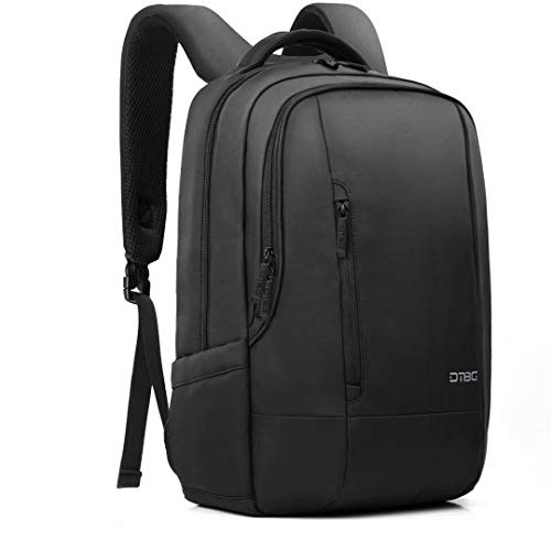 (DTBG Laptop Backpack 17.3 Inch Travel Backpack Nylon Rucksack Water Resistant Book Bag KnapsackDaypackwith Bubble Pad for Men Women-Black)