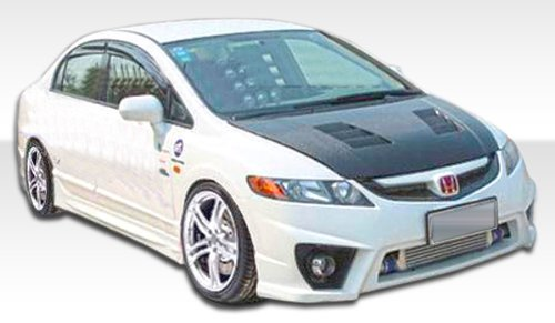 Duraflex Replacement for 2006-2011 Honda Civic 4DR Maddox Front Bumper Cover - 1 Piece ()