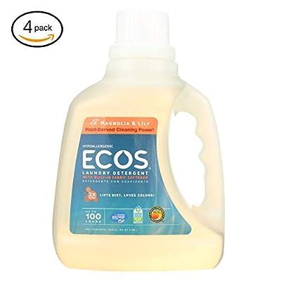 еarth Friеndly еcо's 2X Ultra Liquid Laundry Dеtеrgеnt - Magnоlia and Lily - Casе оf 4-100 fl оz - Bulk Buy