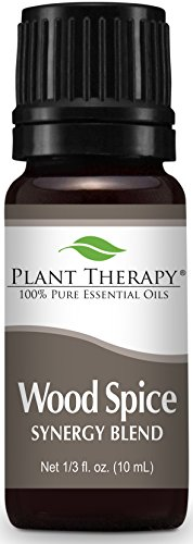 Plant Therapy Wood Spice Manly Scented Essential Oil Synergy. 10 ml (1/3 oz) 100% Pure, Undiluted, Therapeutic Grade. Spicy Wood