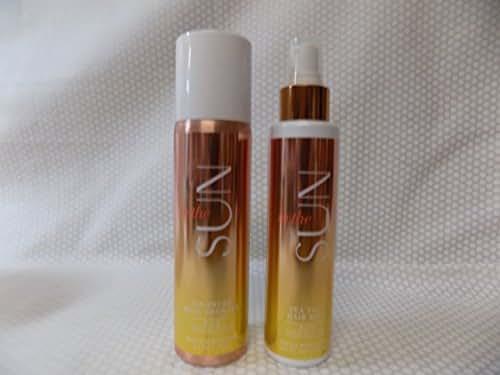 In the Sun 4.9 oz Sea Salt Hair Mist w Coconut Oil and a 3.9 oz Air Brush Body Bronzer w Coconut Oil