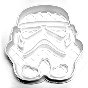 STORM TROOPER HELMET STAR WARS MOVIE CHARACTER SPECIAL OCCASION COOKIE CUTTER BAKING TOOL 3D PRINTED MADE IN USA PR545