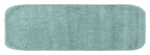 Garland Rug Traditional Plush Washable Nylon Rug, 22-Inch by 60-Inch, Seafoam