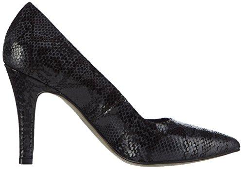 Tamaris 22432 - zapatos de tacón cerrados de cuero mujer negro - Schwarz (Black Snake 025)