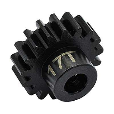 Hot Racing NSG17M1 17t Steel Mod 1 Pinion Gear 5mm: Toys & Games