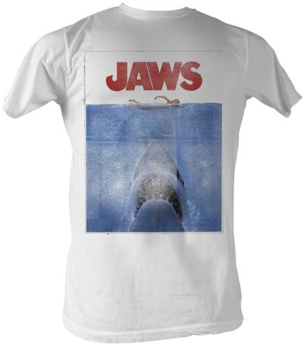 JAWS Poster White Mens T-shirt XXL