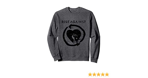 Official Merchandise Pullover Hoodie Rise Against Heartfist