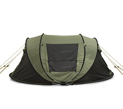 ... Easy Fold Up into Portable Carrying Case Including Stakes - Ideal Automatic Shelter for Family C&ing Hiking Outdoor Festivals Army Green  sc 1 st  BTA-MALL & FiveJoy Instant 4-Person Pop Up Tent - Set Up in Lightning Speed ...