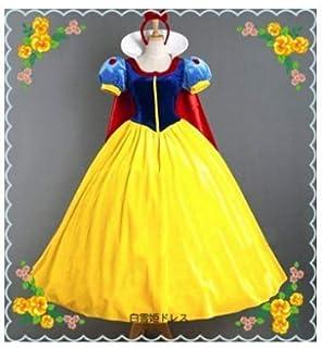 a6d820b07b431 白雪姫 コスチューム イベント 仮装 変装 パーティー 大人 白雪姫 ドレス スノーホワイト なりきり (M)