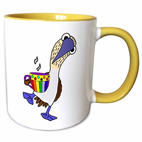 3dRose 275734_8 Mug, 11oz, Yellow/White